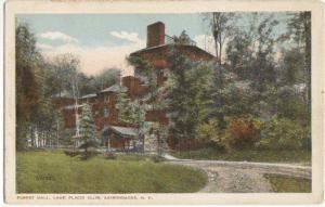 Forest Hall Lake Placid Club Adirondack Mtns NY -white bdr-