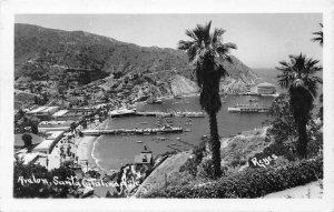 RPPC Avalon, Santa Catalina Isle, CA Reyes Photo c1920s Vintage Postcard