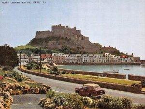 Giant Size Jersey Postcard, Mont Orgueil Castle Channel Islands 202x152mm OS229