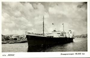curacao, N.W.I., WILLEMSTAD, Royal Shell Tanker S.T.S. Kenia (1950s) RPPC