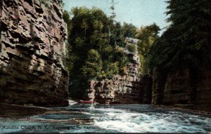 New York Adirondacks Ausable Chasm Beginning Of The Rapids