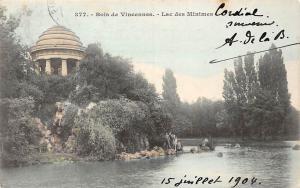 France Bois de Vincennes - Lac des Minimes 1904