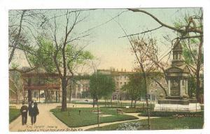 King Square Showing Band Stand & Young Monument, St John, New Brunswick, Cana...