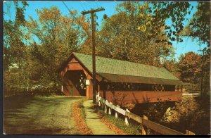 Vermont BRATTLEBORO The Creamery Covered Bridge - pen 1958 - Chrome