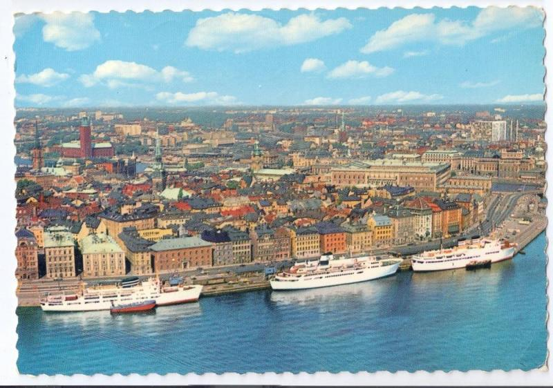 Sweden Stockholm Harbor Old Town Ships 1973 4X6