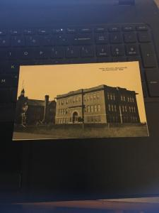 Vintage Postcard; High School Building, Gothenburg Neb