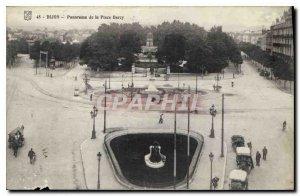 Old Postcard Panorama of Dijon Place Darcy
