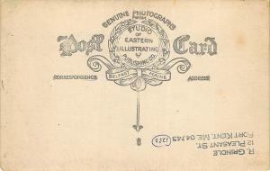 Montville ME Dirt Road Center of Town Eastern Illustrating RP Postcard