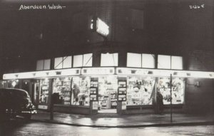 RP: ABERDEEN , Washington , 1930-40s ; Drug Store at Night