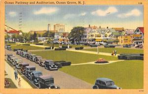 Ocean Grove New Jersey Ocean Pathway and Auditorium Antique Postcard J63630