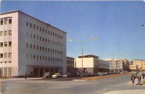 Tel-Aviv Israel 1950s Postcard Hakirya Street