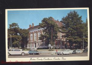 CAMDEN TENNESSEE BENTON COUNTY COURT HOUSE 1960's CARS VINTAGE POSTCARD