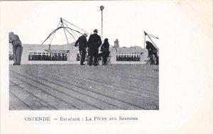 OSTENDE, West Flanders, Belgium, 1900-1910's; Estacade, La Peche Aux Sardines