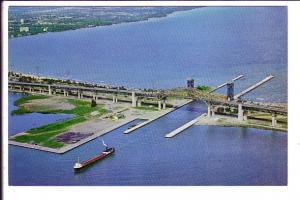 The Burlington Skyway, Hamilton, Ontario, Freight Ship, Dan Gibson