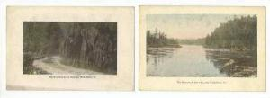 2 PC's, The Narrows, & The Roadway In The Narrows, Wells River, Vermont, 1900...
