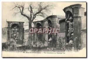 Old Postcard Aix en Provence View d & # 39ensemble Tomb Sec