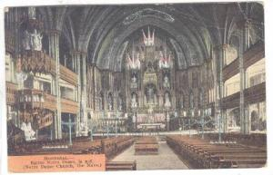 Interior, Notre Dame Church, The Nave, Montreal, Canada,  PU-1922