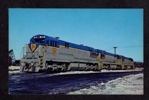 NY Delaware & Hudson Diesel 703 Railroad Train Colonie New York Postcard PC RR