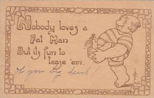Fred Cavally Comic Verse Series Nobody loves a Fat Man 1912