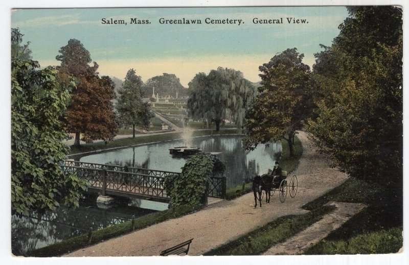 Salem, Mass, Greenlawn Cemetery, General View