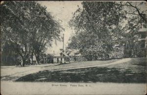 Peace Dale RI Street Scene c1910 Postcard