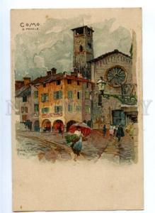 171849 ITALY COMO by Manuel Wielandt Vintage litho postcard
