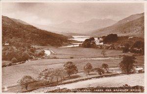 RP: Capel curig: Lakes & Snowdon Bridge , Wales , 20-40s : TUCK