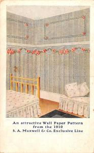 Paint & Wallpaper Advertising Old Vintage Antique Post Card SA Maxwell & Co E...