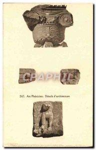 Old Postcard Art Phenicien Details d & # 39Architecture
