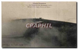 Old Postcard Vosges illustrees The Summit Emerging Hohneck clouds amounting s...
