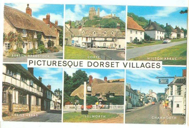 UK, Picturesque Dorset Villages, 1970s used Postcard