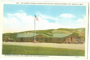 The Summit Tavern, Highest Point on the Lincoln Highway, Wyoming, 1910s-20s