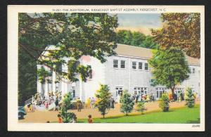 Church Goers Auditorium Ridgecrest Baptist Assembly North Carolina Unused c1940s