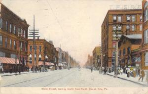 Erie Pennsylvania~State Street Looking North From 10th~Postcard 1909