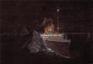 White Star Line Ship Postcard Old Vintage Steamer Antique Post Card The Fatal...