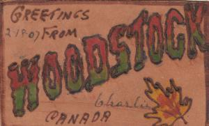 WOODSTOCK , Ontario, Canada, PU-1907 ; Large Letters ; Leather