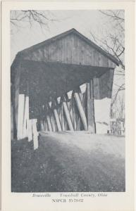 Ohio Postcard Old BRACEVILLE Trumbull County COVERED BRIDGE
