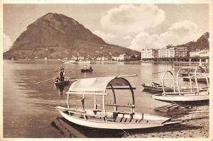 Switzerland Lugano e Monte San Salvatore Lake Boats Bateaux