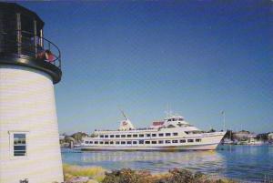 M/V Great Point Leaving Dock On Ocean Street Hyannis Cape Cod Massachusetts