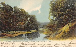 Anderson Indiana~White River @ Mounds State Park~Early Autumn~Rotograph c1906