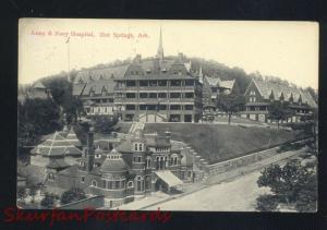 HOT SPRINGS ARKANSAS ARMY & NAVY HOSPITAL ANTIQUE VINTAGE POSTCARD 1909