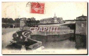 Old Postcard Chateau de Chantilly The Entree du Chateau