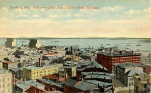ME - Portland. Bird's Eye View from Fidelity Trust Building