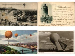 BALLONS, BALLOONS AVIATION GERMANY ALLEMAGNE 20 CPA Pre - 1940 with BETTER