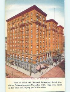 Divided-Back HOTEL SCENE St. Louis Missouri MO H1511