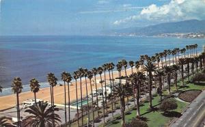 USA Coastline Santa Monica California Beach Promenade Swimming Pool 1971