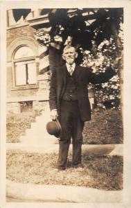 F29/ Cambridge Ohio RPPC Postcard Thomas Ross Weaver Family Man