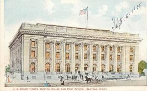 Seattle Washington~US Court House~Customs~Post Office~1905 Artist PC