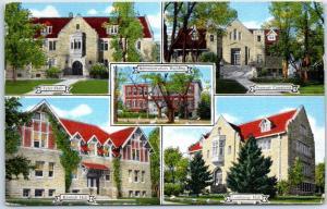 Billings, Montana Postcard ROCKY MOUNTAIN COLLEGE 5 Buildings Kropp Linen 1951