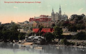 Georgetown Heights & Georgetown College, Washington, D.C.,Early Postcard, Unused